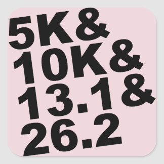 Adesivo Quadrado 5K&10K&13.1&26.2 (preto)