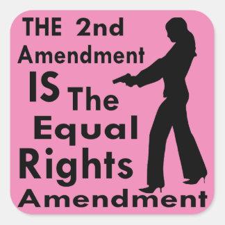 Adesivo Quadrado A ?a alteração É a alteração 2 dos direitos do