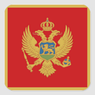 Adesivo Quadrado A bandeira de Montenegro