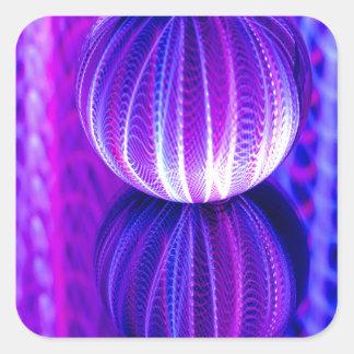 Adesivo Quadrado a bola de cristal reflete