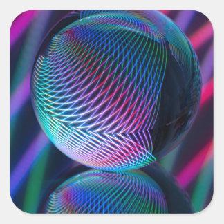 Adesivo Quadrado A bola reflete 4