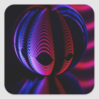 Adesivo Quadrado A bola reflete 6
