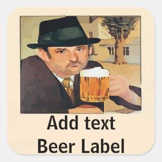 Adesivo Quadrado A cerveja da fermentação home, etiqueta, adiciona