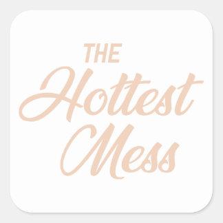 Adesivo Quadrado A confusão a mais quente