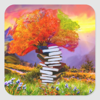 Adesivo Quadrado A educação será sempre a base se todo o sucesso