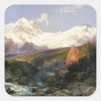 Adesivo Quadrado A escala de Teton