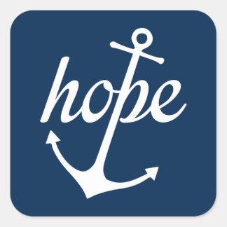 Adesivo Quadrado A esperança ancora a alma (o 6:19 dos hebraicos)