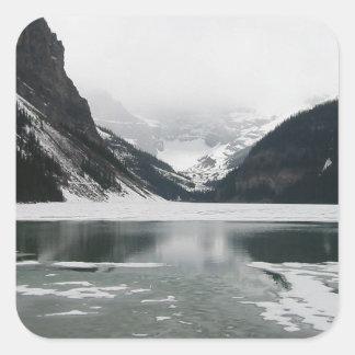 Adesivo Quadrado A extremidade do inverno, Lake Louise