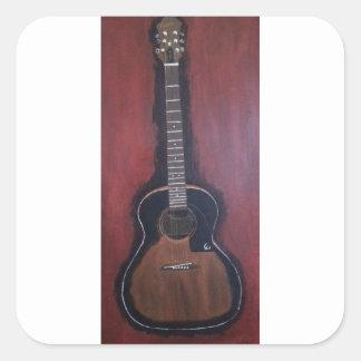 Adesivo Quadrado A guitarra de Ryan