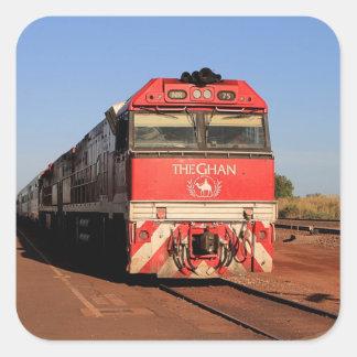 Adesivo Quadrado A locomotiva do trem de Ghan, Darwin