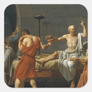 Adesivo Quadrado A morte de Socrates
