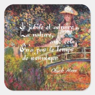 Adesivo Quadrado A natureza no art. de Monet