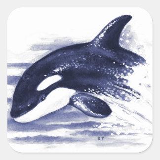 Adesivo Quadrado A orca do bebê salta