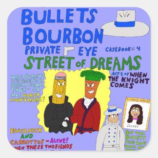 Adesivo Quadrado A rua de Bourbon #4 das balas dos sonhos cobre