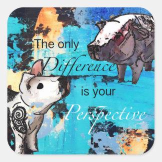 Adesivo Quadrado A única diferença é sua perspectiva