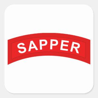Adesivo Quadrado Aba do SAPPER
