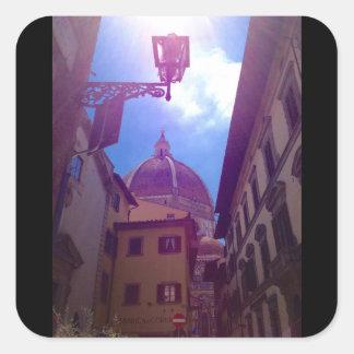 Adesivo Quadrado Abóbada de Brunelleschi em Florença, Italia