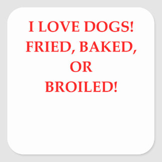 Adesivo Quadrado aborrecedor do cão