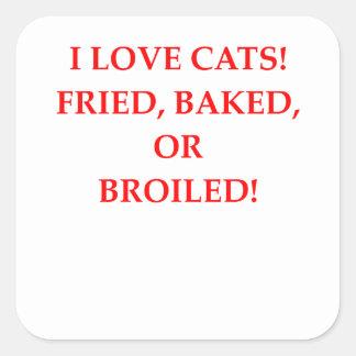 Adesivo Quadrado aborrecedor do gato