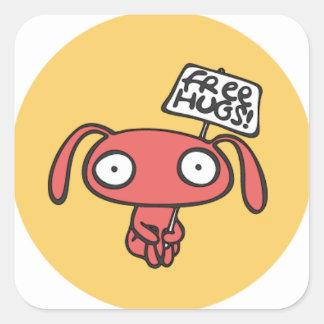 Adesivo Quadrado Abraços de coelho livres