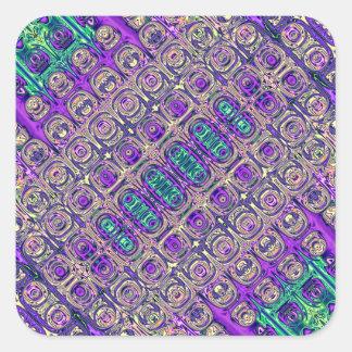Adesivo Quadrado Abstrato colorido da miçanga de vidro