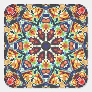 Adesivo Quadrado Abstrato geométrico colorido