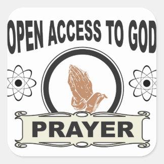 Adesivo Quadrado acesso aberto ao deus