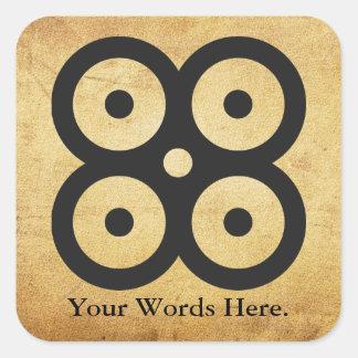 Adesivo Quadrado ACOPLE o símbolo de MASIE   da sabedoria,