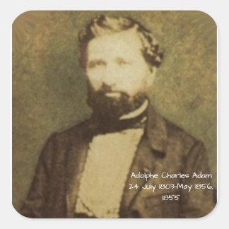 Adesivo Quadrado Adolfo Charles Adam, 1855