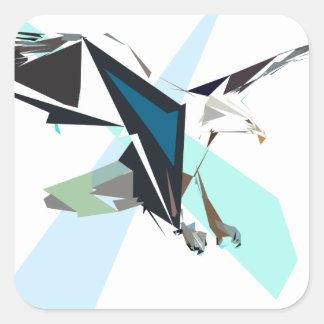 Adesivo Quadrado águia