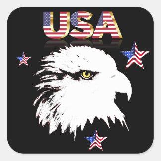 Adesivo Quadrado Águia americana