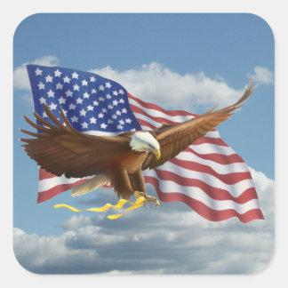 Adesivo Quadrado Águia americana americana