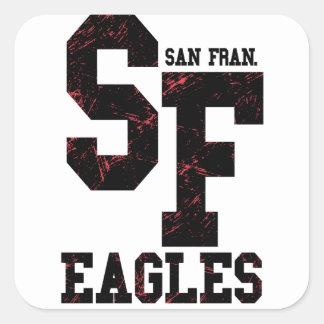 Adesivo Quadrado Águias de San Fran