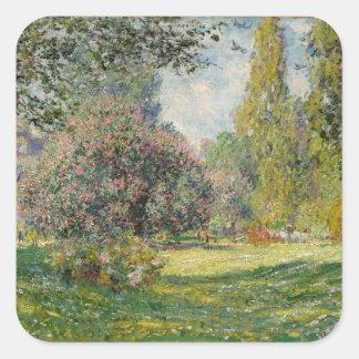 Adesivo Quadrado Ajardine o Parc Monceau - Claude Monet