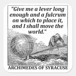 Adesivo Quadrado Alavanca de Archimedes