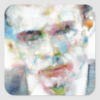 Adesivo Quadrado ALDOUS HUXLEY - retrato .4 da aguarela