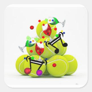 Adesivo Quadrado Alegria da música das bolas