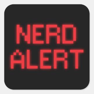 Adesivo Quadrado Alerta do nerd