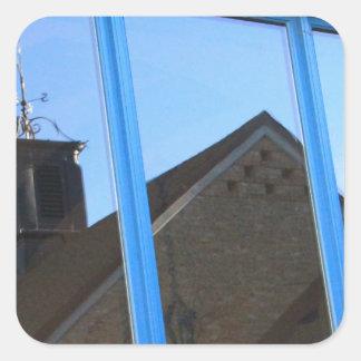 Adesivo Quadrado Aleta de vento na janela