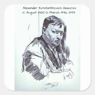 Adesivo Quadrado Alexander Konstantinovich Glazunov 1899