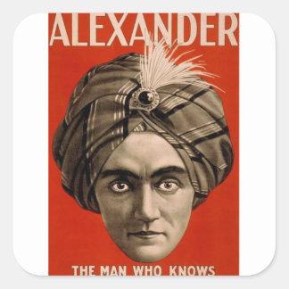 Adesivo Quadrado Alexander sabe