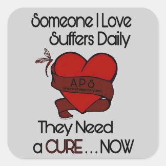Adesivo Quadrado Alguém coração do amor de I…/fita… APS