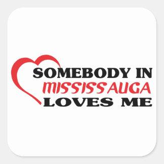 Adesivo Quadrado Alguém em Mississauga ama-me