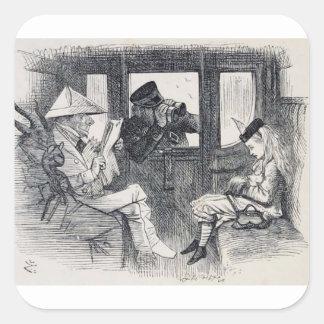 Adesivo Quadrado Alice no trem