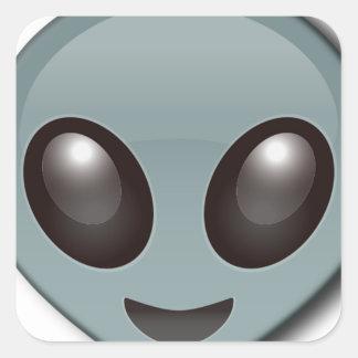 Adesivo Quadrado Alienígena Eyed inseto