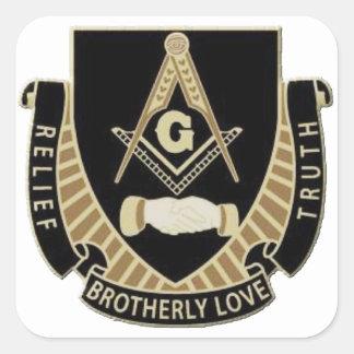 Adesivo Quadrado Alivio & verdade do amor fraternal