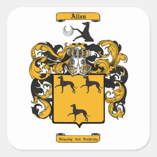 Adesivo Quadrado Allen (inglês)