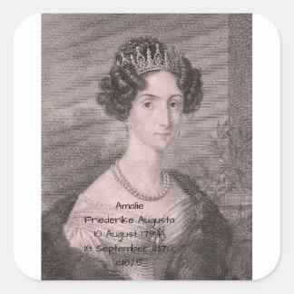 Adesivo Quadrado Amalie Friederike Augusta c1825