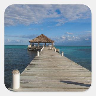 Adesivo Quadrado Ambergris Caye Belize