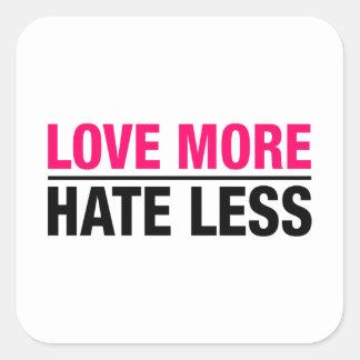 Adesivo Quadrado Ame mais ódio menos